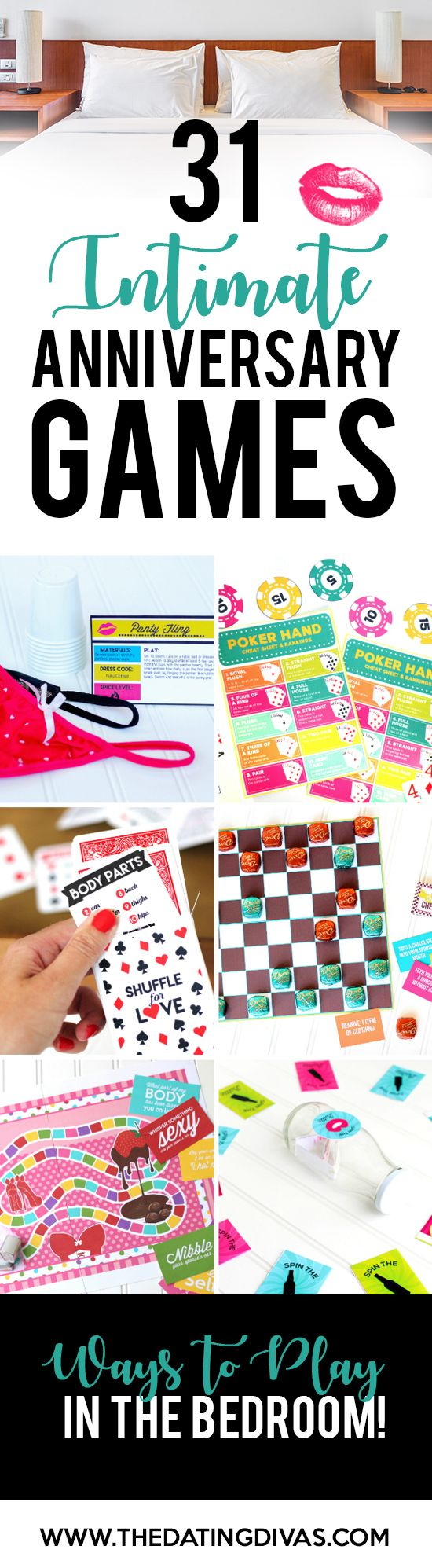 Anniversary Bedroom Games- so many SEXY anniversary ideas. Now THIS is what my man would appreciate. ha ha ha.