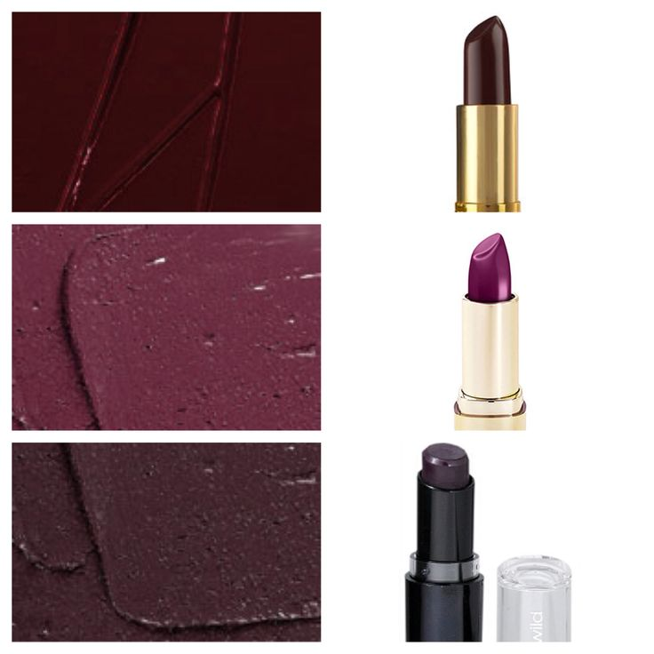 Pictured top to bottom: 1. Hang-up vs. Black Cherry 2. Rebel vs. Sangria 3. Cyber vs. Vamp it Up