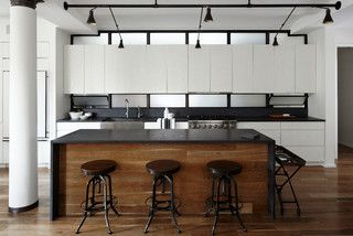 """Example of Ceasarstone wrapped around """"L"""" or island with wood flooring in bar-sitting area. Can this be done in WHB"""