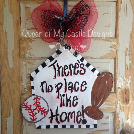 Home Plate Baseball Door Hanger on Etsy, $40.00