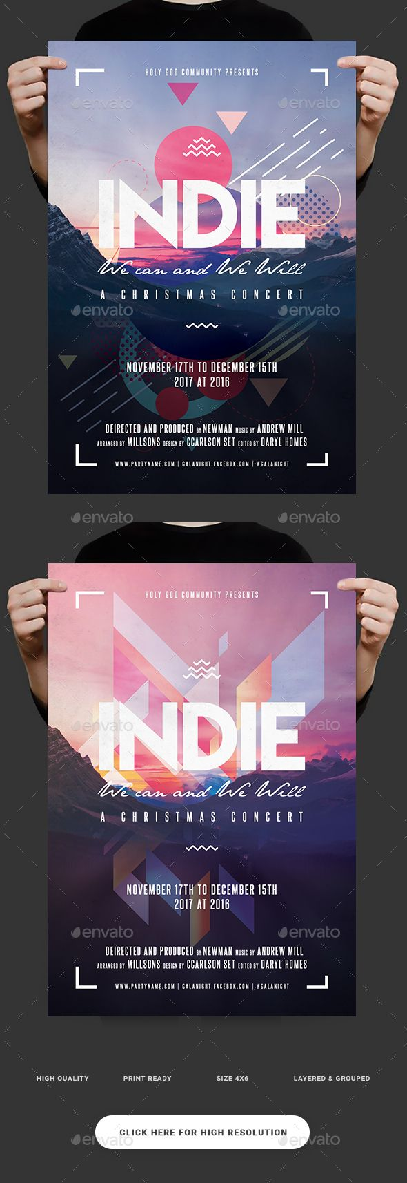 Indie Morning Flyer — Photoshop PSD #sounds #print • Download ➝ graphicriv…
