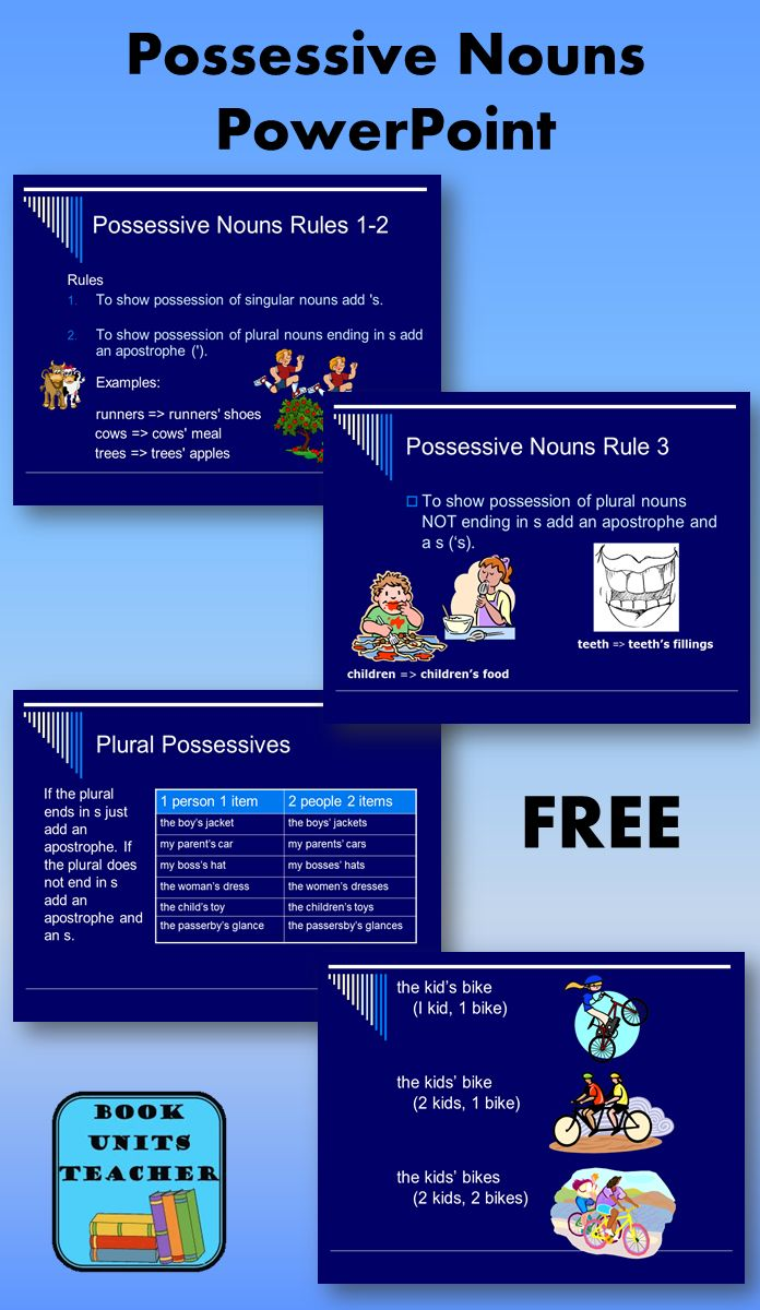 Free powerpoint that goes over possessive nouns scroll to the bottom of the page for