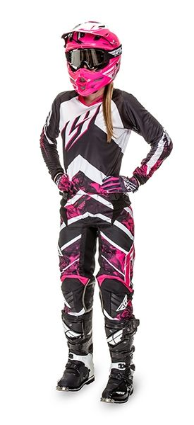 Kinetic Women's Pink/White Racewear | FLY Racing | Motocross, MTB, BMX, Snowmobile Racewear; Street Apparel and Hard Parts