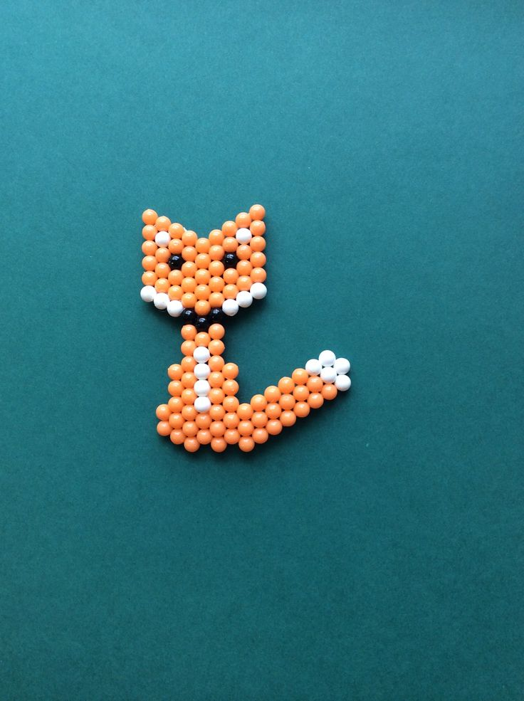 This lovely little fox loves to explore the woodland! #Aquabeads #arts&crafts #nature #animals