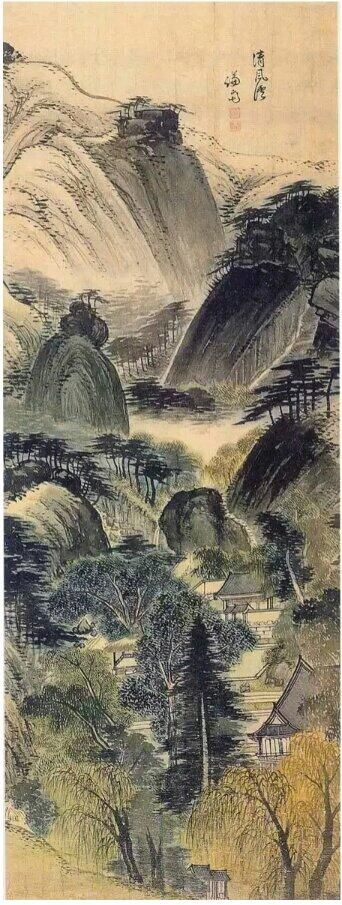 'Cheongpunggye(or Cheongpung valley in Mt. Inwang; 청풍계 淸風溪, 1739)' by Jeong Seon in his sixties.