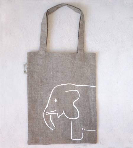 Book Bag for Kids!!! linen bag {from love loans + linen} @Shyamala Pinterest…
