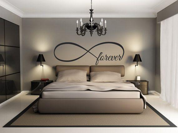 Forever Home Wall Decor Vinyl Decal Infinity Loop Bedroom Livingroom Nursery Room DIY Renovation Love Design Family Parents Husband and Wife