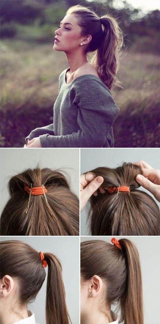 cola de caballo pelo largo