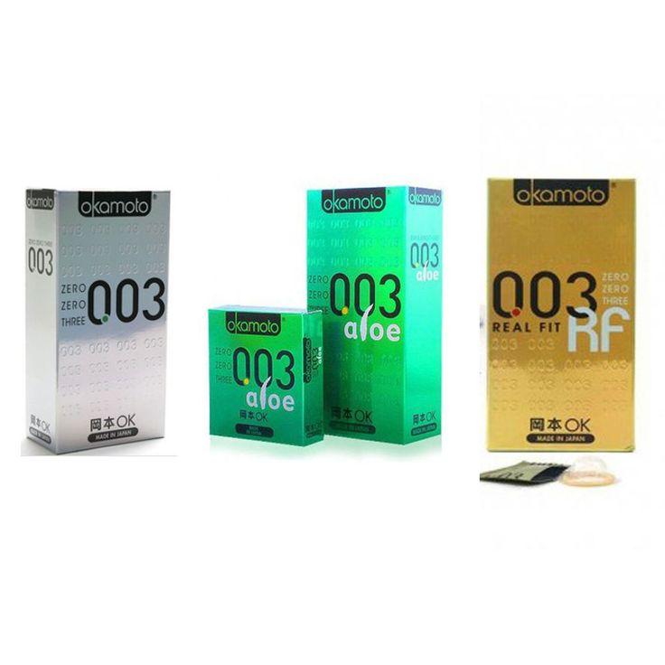 New Okamoto 003 Real fit / Platium/ Aloe Condoms 10pc Super thin Latex Japan #OKMOTO