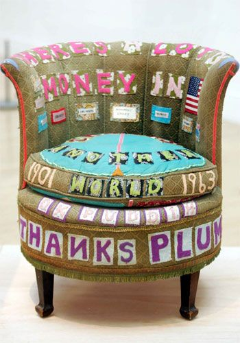 Tracy Emin. I loved this chair and concept when I saw it. Great idea and lovely object steeped in memory, future and travel!