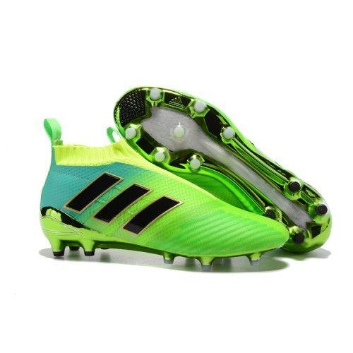 2017 Adidas ACE 17+ PureControl FG AG Chaussures de football Vert Noir