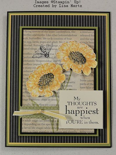 My thoughts are happiest when you're in them ~ Lisa Martz, Get Your Stamp On!