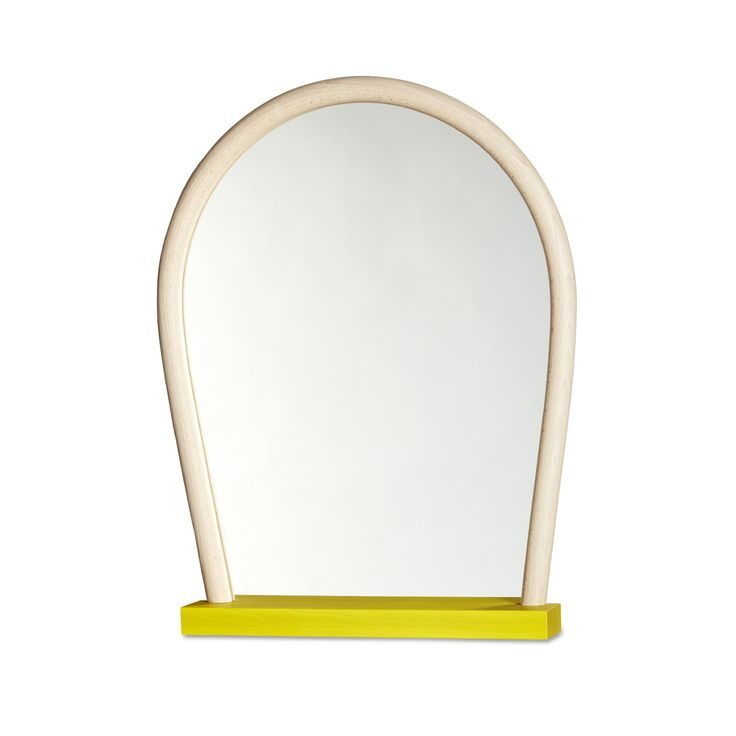 Yellow base with light stained natural frame