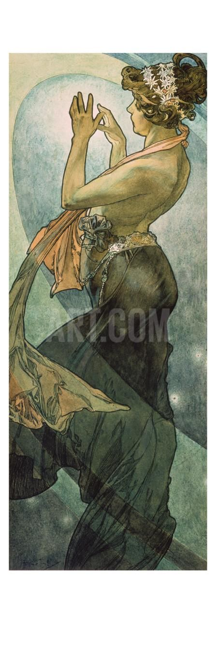 The Moon and the Stars: Pole Star, 1902 Giclee Print by Alphonse Mucha at Art.com
