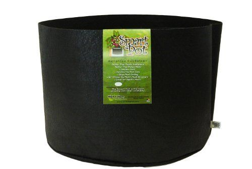 Smart Pots 30-Gallon Smart Pot Soft-Sided Container, Black by Smart Pots. $17.22. 30 Gallon capacity; 24 inch diameter x 15.5 inch height. Allows excess heat to escape. Soft-sided fabric aeration container that has the rigidity to hold its shape. Provides aeration, enhancing root structure, resulting in a vigorous plant with more flowers and fruits and increased insect and disease resistance. Developed for, and used by commercial tree growers. Nurseymen have known...