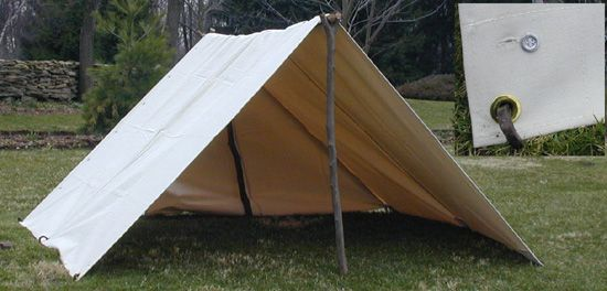 Two man canvas tent before groundsheets were part of the for How to build a canvas tent frame
