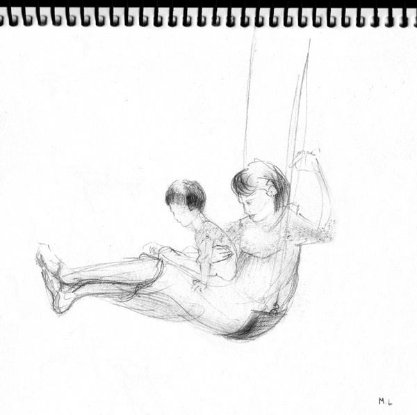 Sketches, out and about in Brisbane by Melissa Lamb, via Behance