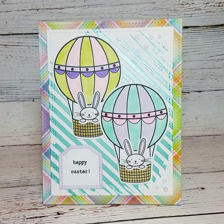 Corilyn's Creations: Bunnies in balloons #prettypinkposh #lawnfawn