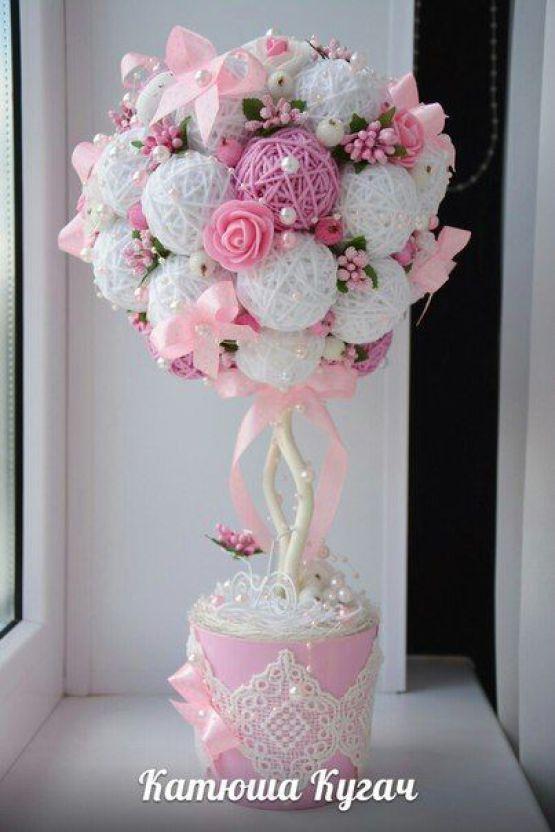 Bellas decoraciones con esferas de hilo - Dale Detalles