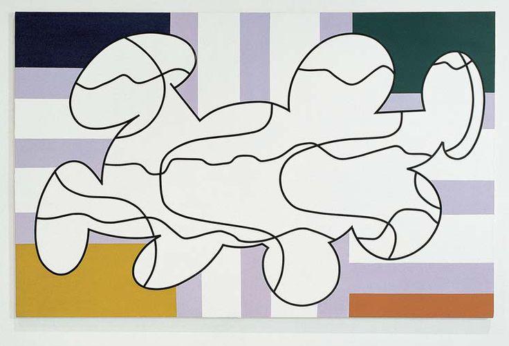Olivier Gourvil, T.R.A.N.S.I.T.E.S, 2002, oil and acrylic on canvas, 167 x 260 cm