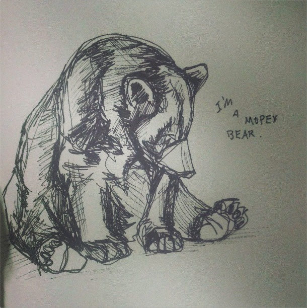 #illustration #katrinalofaro #bear