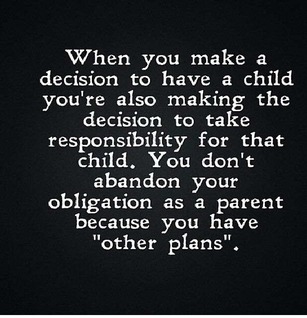 Amen! Divorce doesn't mean you can't care for your child! It's sad I pay more for that child than you do!