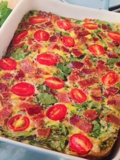 Naturally Homemade: Tomato Basil (Crust less) Quiche