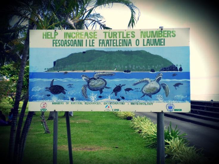 A sign in Apia, Samoa