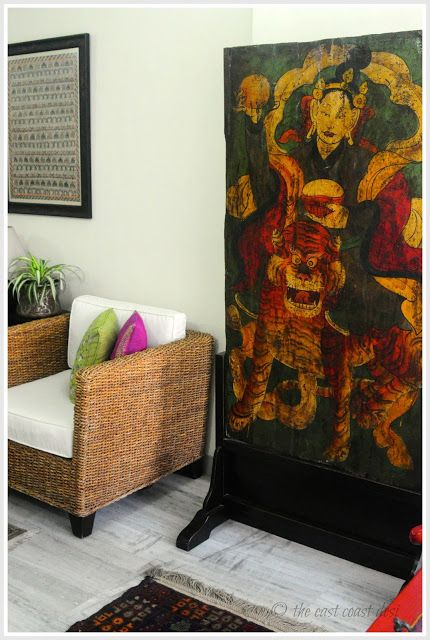 Wooden door on a stand can also multi task as a room divider too