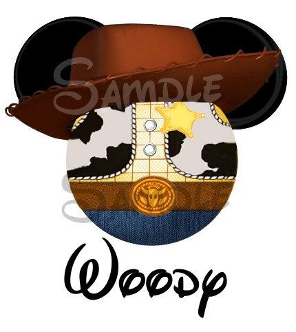 Woody from Toy Story inspired Mickey Head digital printable file DIY on Etsy, $3.00