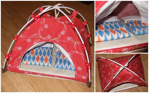 Toy tent for Sylvanian families - made by my sister