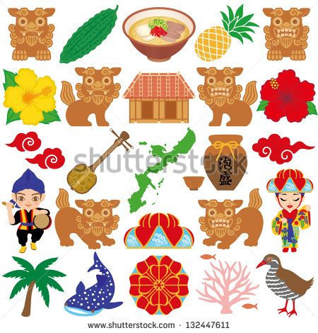 Okinawa illustrations - stock vector