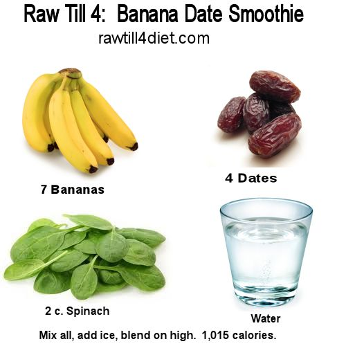 Favorite Raw Till 4 Recipe: Banana Date Smoothie - Raw Till 4 http://rawtill4diet.com/favorite-raw-till-4-recipe-banana-date-smoothie/