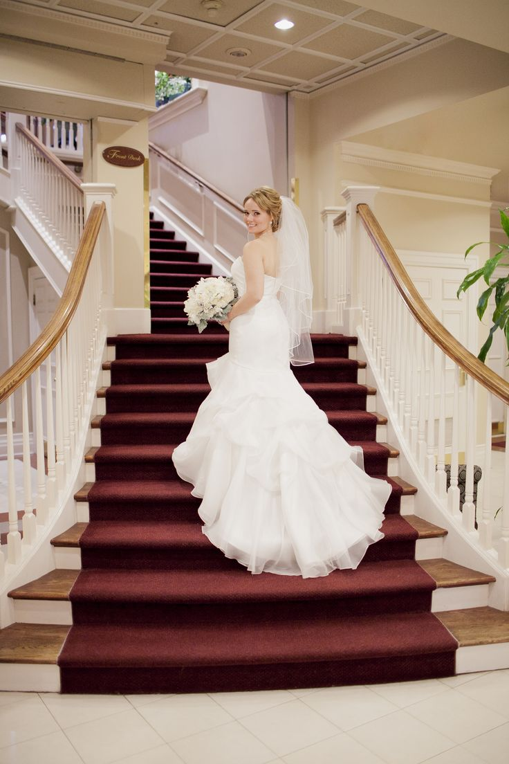 Grand Staircase at Queen's Landing Hotel