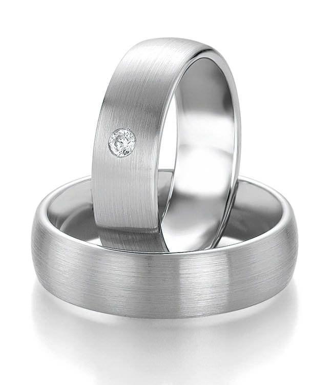 Partnerringe silber matt schlicht  72 besten Ehering mit Diamant Bilder auf Pinterest | Schmuck ...
