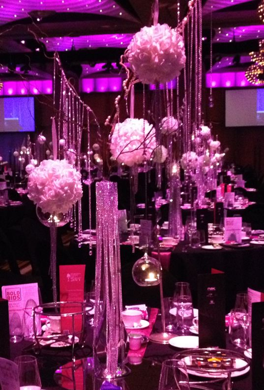 The Great Gatsby Inspired Centrepieces by Farfalla Party & Wedding Design  http://partydesign.com.au/centerpieces/