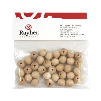 RAYHER HOBBY Shop   Rohholz-Kugeln,durchgebohrt, 20mm ø