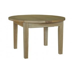 Canterbury Solid Oak MNT03 4FT 1IN Round Flip Top Dining Table www.easyfurn.co.uk