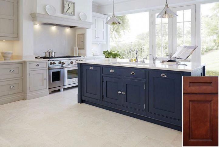 Very Cool Oak Cabinets Painted Antique White Oakkitchencabinets Kitchenisland Blue Kitchen Cabinets New Kitchen Cabinets Kitchen Design