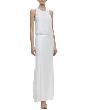 Laundry by Shelli Segal Racer Back Blouson Dress, $207 | 36 Elegant Minimalist Wedding Dresses