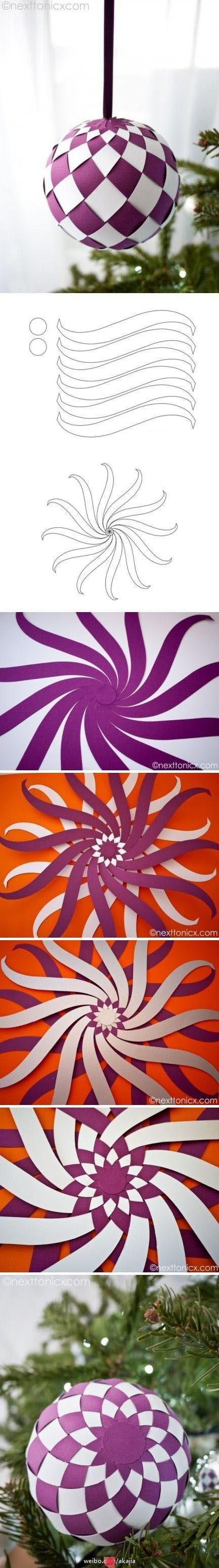 Como fazer uma bola decorativa de papel.