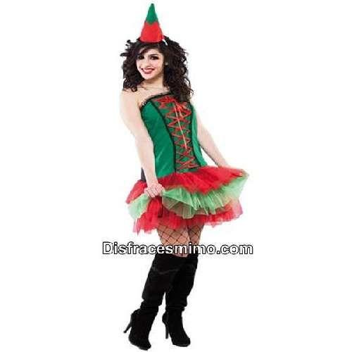 Disfraz de Elfa ayudante Santa Claus para mujer