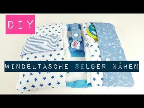 Baby Windeltasche mit Schnullerbändchen Tutorial - YouTube