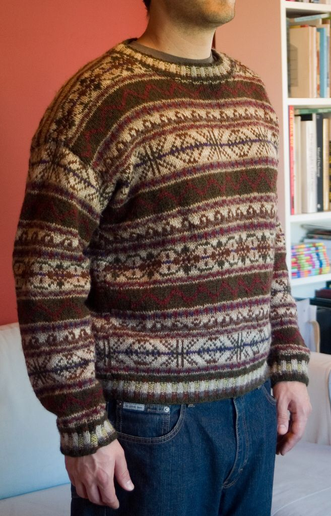 Fair Isle Sweater Vest Knitting Pattern - English Sweater Vest