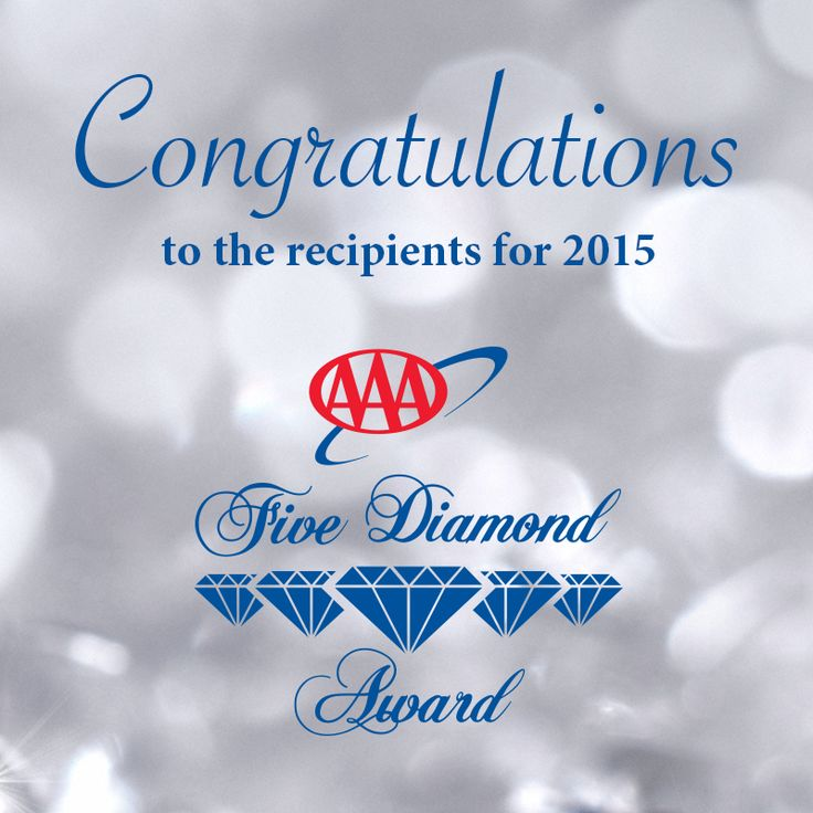 Congratulations to the 184 AAA Five Diamond hotels and restaurants for 2015! See who made the list.