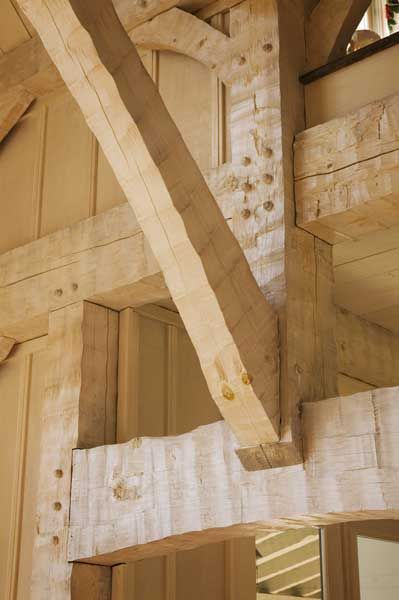 Ax scribed beams - real craftsmanship, you cannot get this look from machines