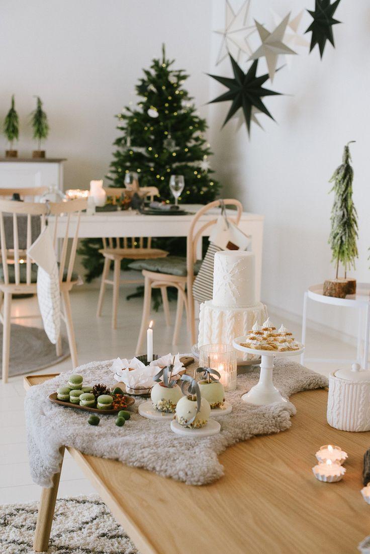 Nordisch gemütliche Weihnachtsdekoration