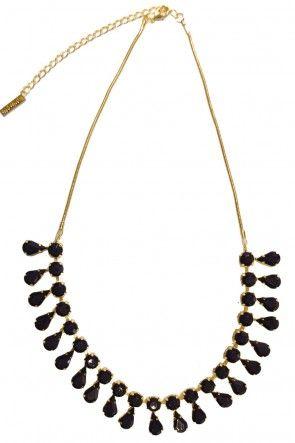 Roisin Purple Drop Necklace