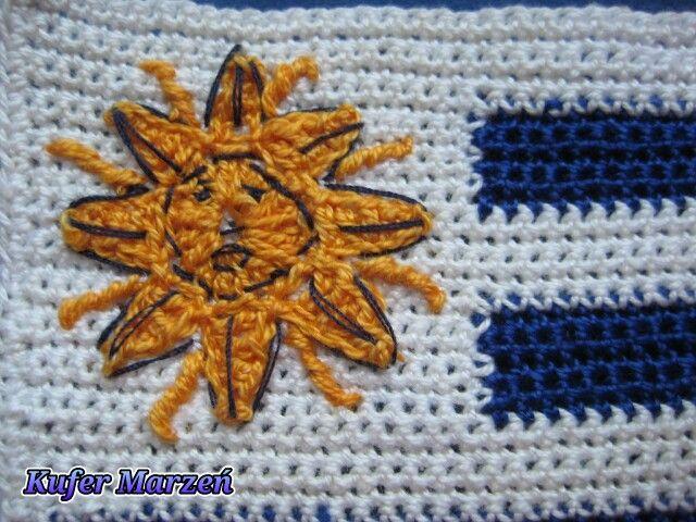 Flaga Urugwaju  http://kufermarzen.blog.pl/2014/11/17/urugwaj-w-rakiecie/