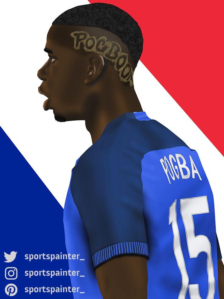 Paul Pogba France Euro 2016 Art